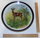 DEER PLATE - Large Blue and Gold Trim PLATE - Schumann Bavaria Germany