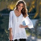 Fashion Women Sexy V-neck Lace Tops Casual Loose Long Sleeve Blouse T Shirt