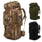 80L Outdoor Unisex Tactical Backpack Hiking Camping Luggage Rucksack Bag New