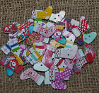 10/25 ASSORTED PATTERN WOOD CHRISTMAS STOCKING BUTTONS  #CRAFT/SCRAPBOOK