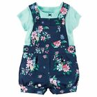 Carters 12 Months Polka Dot Tee & French Terry Shortalls Set Baby Girl Clothes