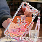 Luxury Bling Diamond Crystal Ring Holder stand Mirror Phone Case Cover & strap 2