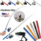 Kyпить Mini Portable Pocket Fish Pen Shape Aluminum Alloy Fishing Rod Pole Reel 5 Color на еВаy.соm