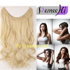 New Wave Fish Line Hidden Wire Human Hair Extensions Fits Like a Halo Hairpieces