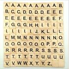 100 Wooden Alphabet Scrabble Tiles Black Letters Numbers For Board Crafts Wood H
