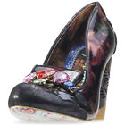 Irregular Choice Ellie Grant Womens Black Synthetic Casual Shoes Slip-on