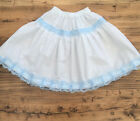 White/Blue Lace Petticoat Skirt Adult - Made to Measure