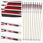 Handmade Hunting Wooden Arrows Printing Shaft Archery Target Arrow Fit Longbow
