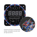DIY Light Control Rotation LED Electronic Clock Thermometer Alarm Clock Kit Set