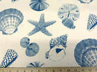 Discount Fabric Premier Prints Sea Shells Pacific Teal 14PR