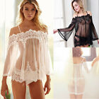 Women Lingerie Babydoll Sleepwear Underwear Lace Nightwear G-string Plus Size