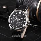 44mm Parnis Miyota Automatic Small Second 24-hour Dial Sapphire Date Men Watch