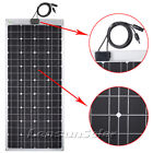 Lensun 100W 12V Flexible Solar Panel Portable For Camper RV Boats Outdoor Charge