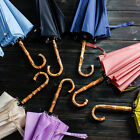 NEW Clear Wooden Long Handle Sun Rain Rainstoppers Umbrella