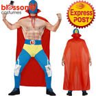 CA413 Mens Mexican Wrestler Costume Stag Sports Fighter Fancy Dress WWE Outfit