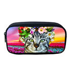 3D Animal Print Student School College Pen Bag Stationery Case Box Makeup Packet