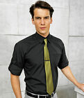 Mens Roll Up Sleeve Button Fastening Shirt - Smart Office Work Business Casual