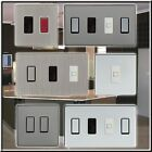 SCREWLESS GRID SWITCH PLATE. 1,2,3,4,6,8  GANG. BLACK NICKEL,SATIN NICKEL CHROME