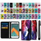 For HTC 10 One M10 Ultra Slim Canvas Wallet Pouch Credit Card Case Cover + Pen