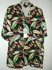 NWT M or S BIRD OF PARADISE FLOWER HAWAIIAN SHIRT by LA BEAT $79 TAGS