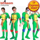 K402 Mens Teenage Mutant Ninja Turtles Costume TMNT Superhero Adult Fancy Dress