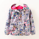 Toddler Baby girls jackets hooded outerwear kids spring summer Sunscreen clothes
