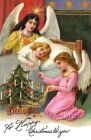 Christmas Angel Crazy Quilt Block Multi Sizes FrEE ShiPPinG WoRld WiDE (A7