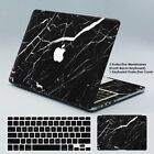 "Rubberized Marble Skin Film +Keyboard Cover For Macbook Pro Air 13'' 15"" Retina"