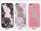 US iphone Clears Case 6/6 plus/7/7 plus Flower Lace Protective Covers Cellphone