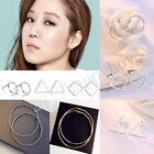 Simple Hollow-out Geometric Earring Triangle/circle/Square Ear Stud Jewelry