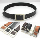 Unisex Fashion Leather Buckle Belt All-match Alloy Buttons Korean Style Gift