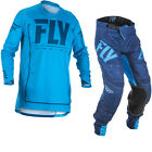 Fly Racing 2018 Lite Hydrogen Motocross Jersey & Pants Blue Navy Kit MX Clothing