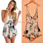 New Fashion Women Sexy V-Neck Spaghetti Strap Backless Print Casual N98B
