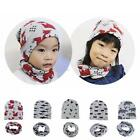 New Kids Toddler Ribbed Knit Winter Hat Beanie Cap with Neckerchief 2 B20E