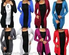 Contrast Inset Layer Look Drape Shrug/Cardigan 9 Colors S M L