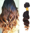 100% Ombre Remy Body Wave Loose Wavy Straight Unprocessed Human Hair Extensions