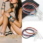 Women Fashion Braided Synthetic Leather Anklet Ankle Bracelet Beach Foot SH