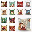 Christmas Deer Santa Pillow Case Sofa Waist Throw Cushion Cover Xmas Home Decor