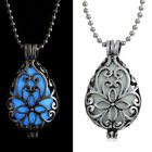 Luminous Choker Pendant Necklace Glow In Dark Locket Silver Hollow Glowing Stone