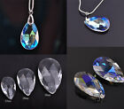 5pcs 22~38mm Teardrop Crystal Glass Pendants Faceted Loose Beads DIY Findings