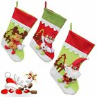 Large Christmas Decor Red Ornament Stocking Sock 3D Snowman Xmas Candy Bag Pack