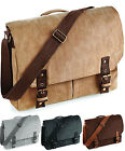 Vintage Retro Canvas Satchel Messenger Shoulder Bag  Work School Commute Office