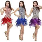 Latin Rumba Salsa Ballroom Party Tassel Dress Dancewear Tango Cha Dance Clothes