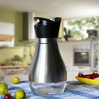 Stainless Steel Glass Bottom Olive Oil Dispenser Bottle Soy Sauce Honey Bottle