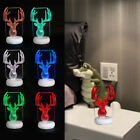 Remote Control 3D Elk Love 8 Styles Acrylic Desktop Night Light 7 Color Changing