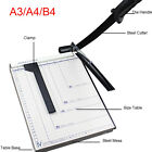 Heavy Duty Guillotine Stack Sheet Paper Cutter Metal Base A3to B4 Trimmer Office