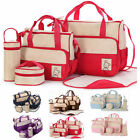 5 in 1 Mummy Baby Diaper Nappy Changing Bag Mom Handbag multifunctional bag