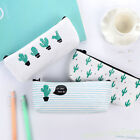 Cute Cactus Pencil Pen Case Cosmetic Makeup Bag Storage Pouch Purse Stationery