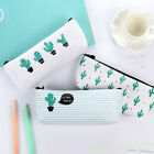 Cute Cactus Pencil Pen Case Cosmetic Makeup Bag Storage Pouc