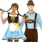 Bavarian Adult Couple Fancy Dress Oktoberfest German Beer Festival Costumes New